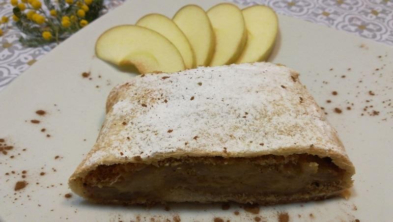 Strudel di mele e crema pasticciera