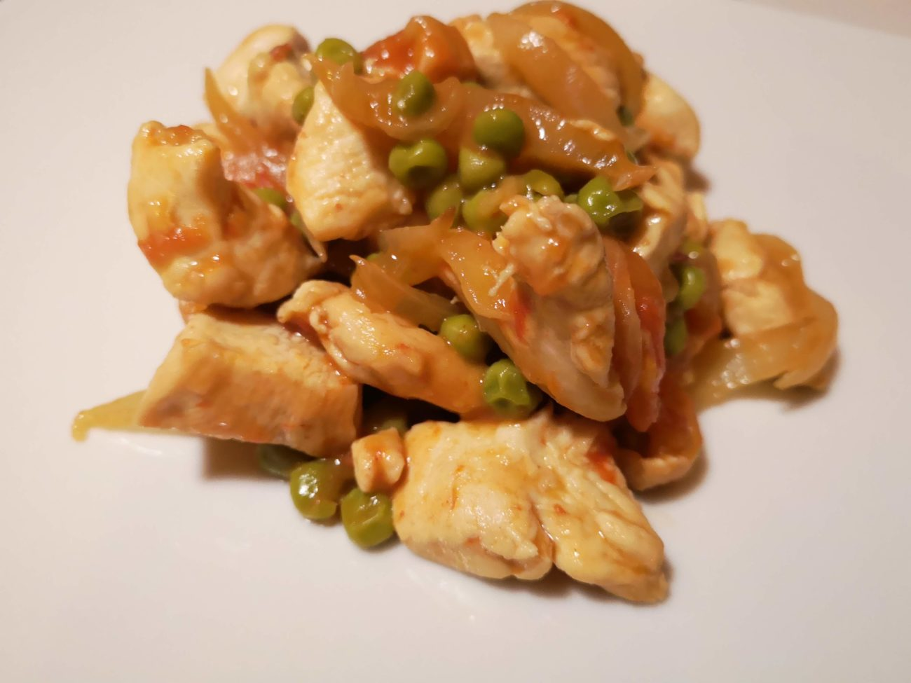 Bocconcini di pollo all'ortolana in agrodolce