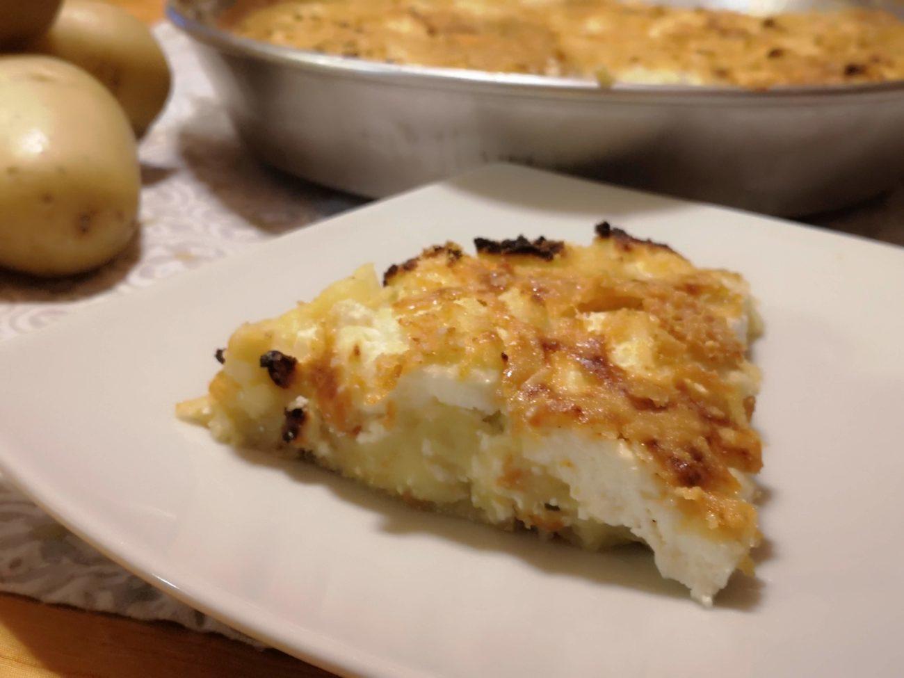 Torta di patate e ricotta