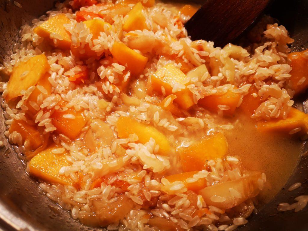 risotto alla zucca con salmone
