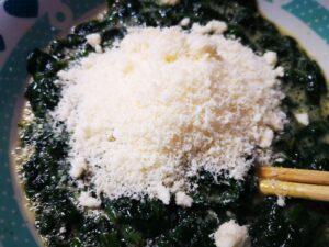 spinaci e formaggio
