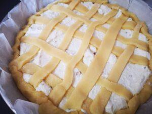 crostata con ricotta e pistacchi da cuocere