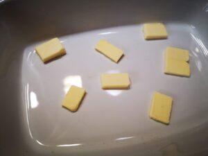 sistemate del burro alla base della pirofila;