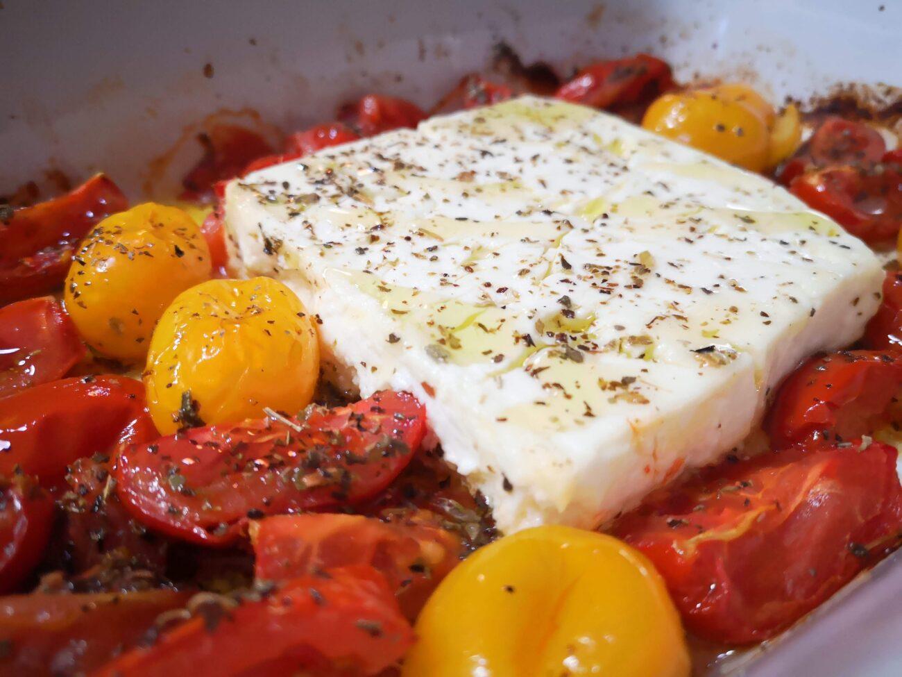 Feta e pomodori al forno