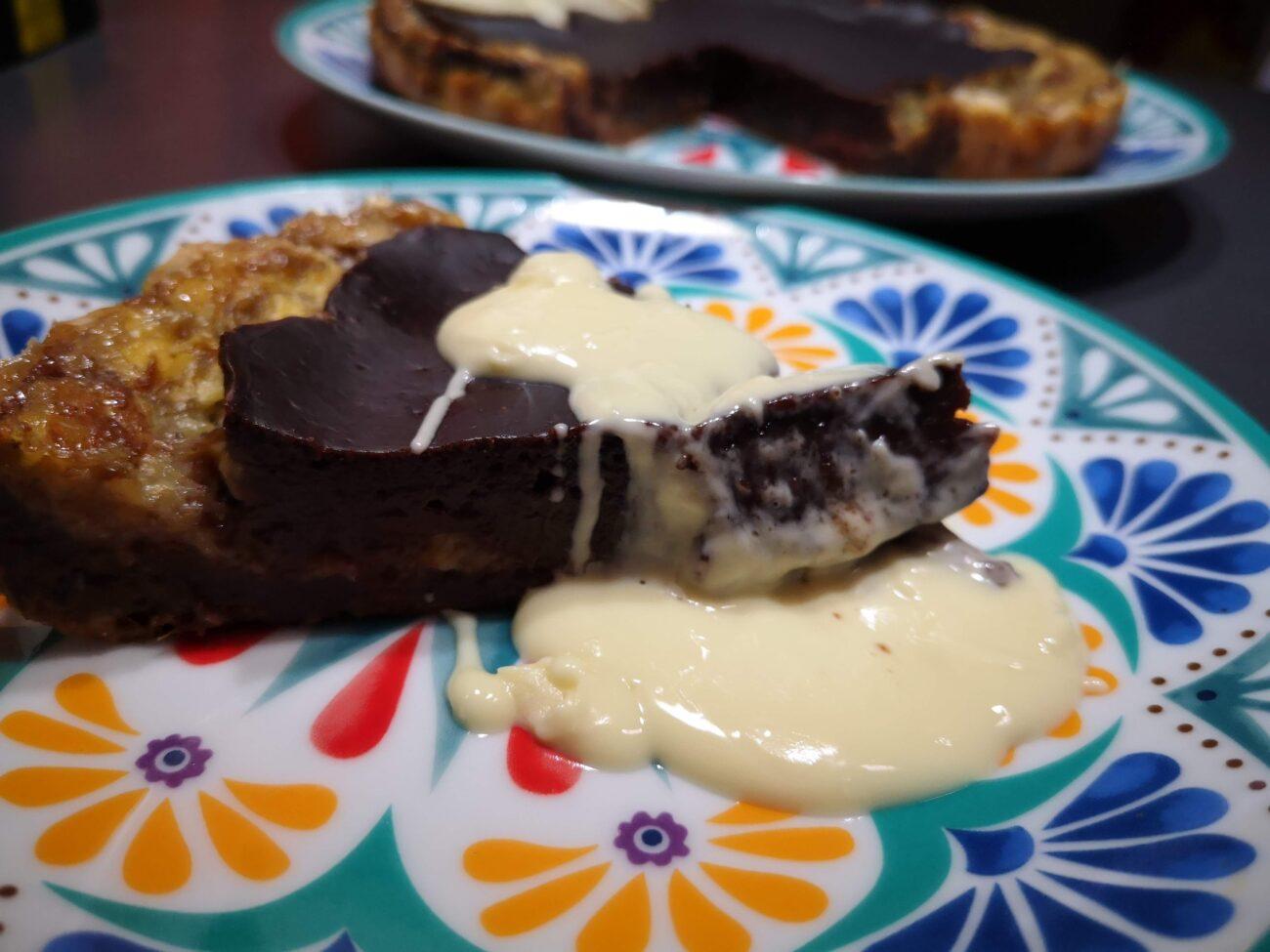 Sfoglia con crema al cioccolato e banana